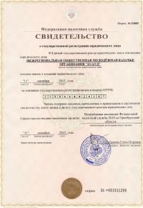"""Документы о государственной регистрации МО МКО """"Есаул"""""""